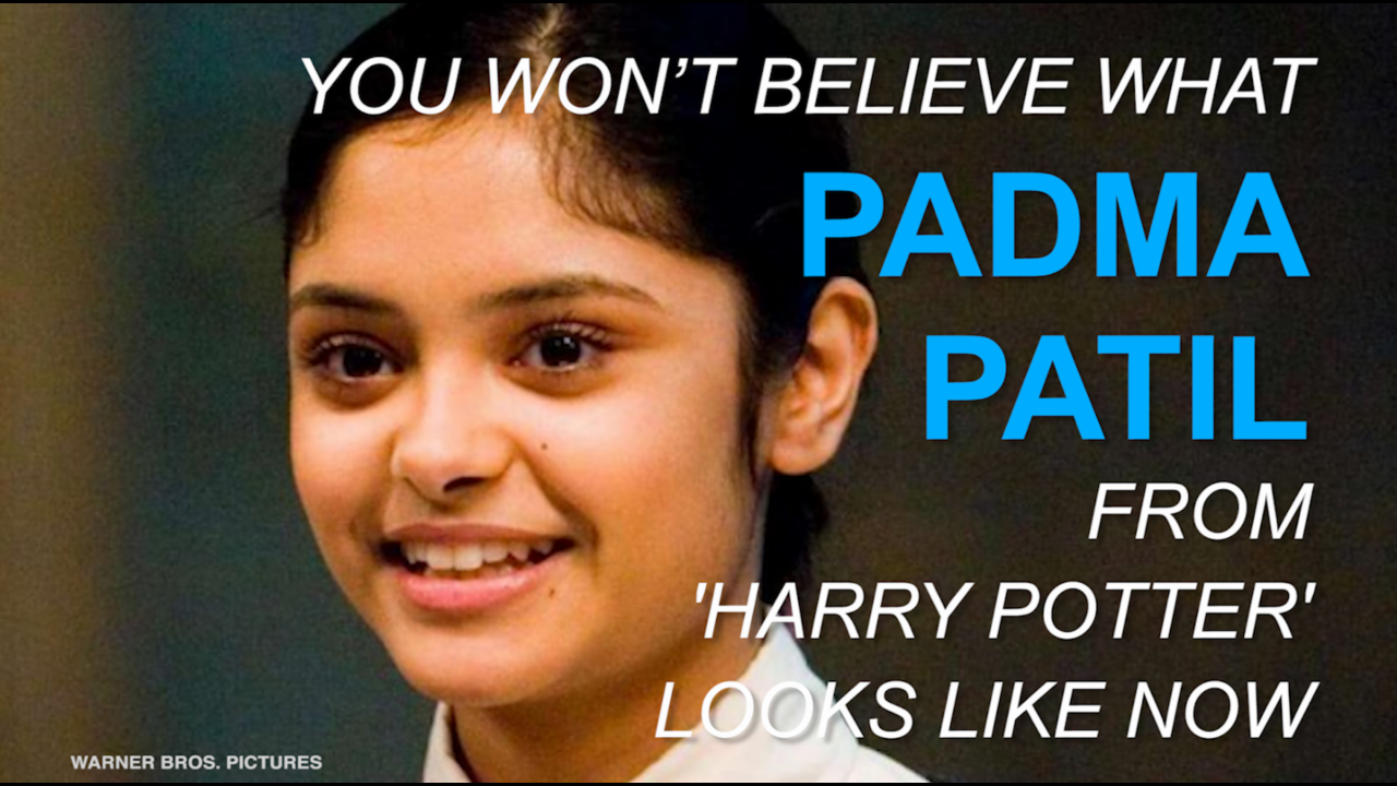 You won't believe what Padma Patil from 'Harry Potter' looks like now