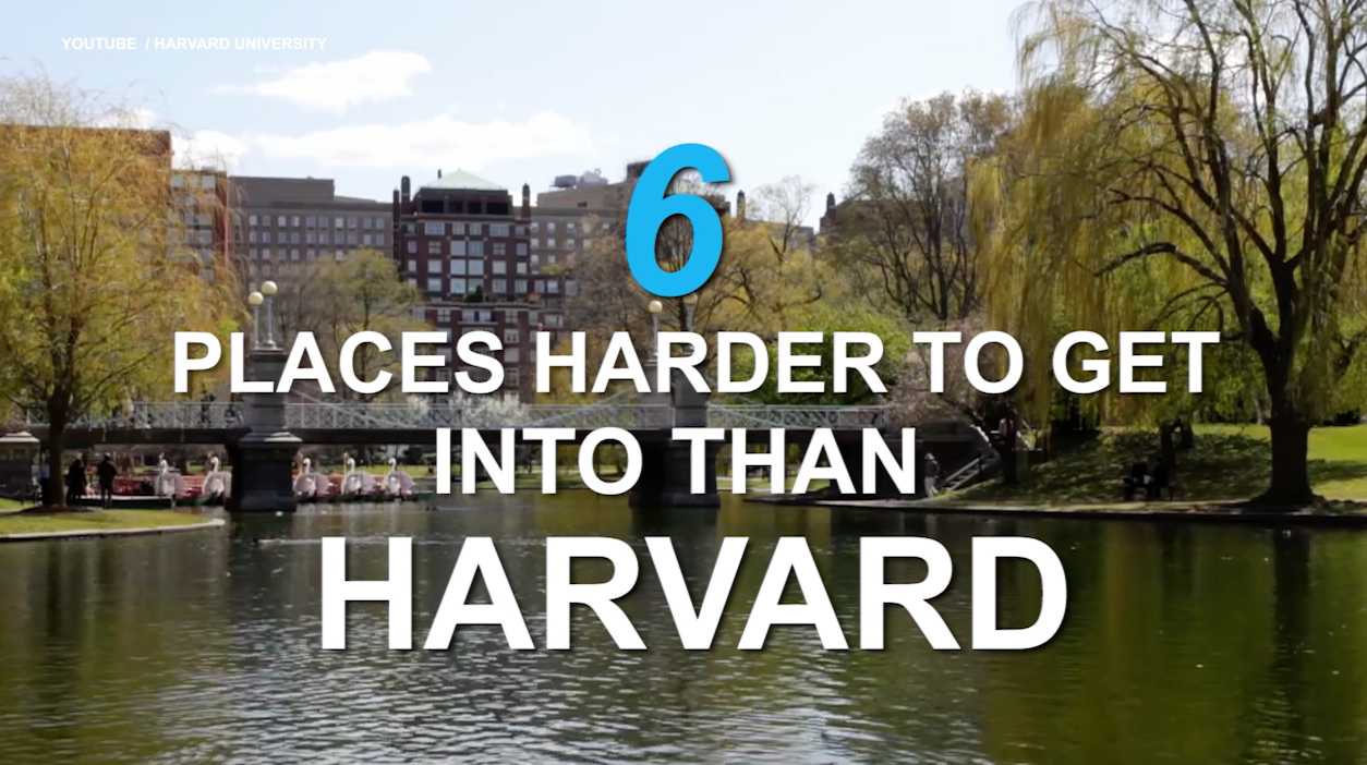 6 places harder to get into than Harvard