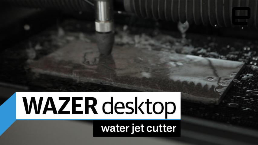 Wazer desktop water jet cutter