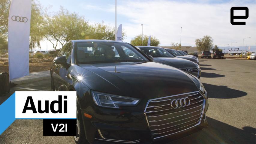 Audi V2I traffic signal countdown: hands-on