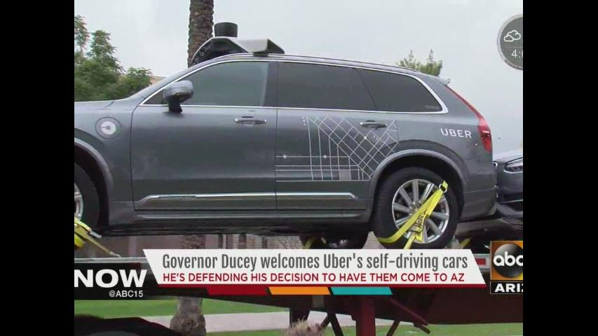 Uber self-driving cars arrive in Arizona