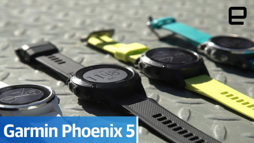 Garmin's outdoorsy Fenix5 smartwatches are pretty small