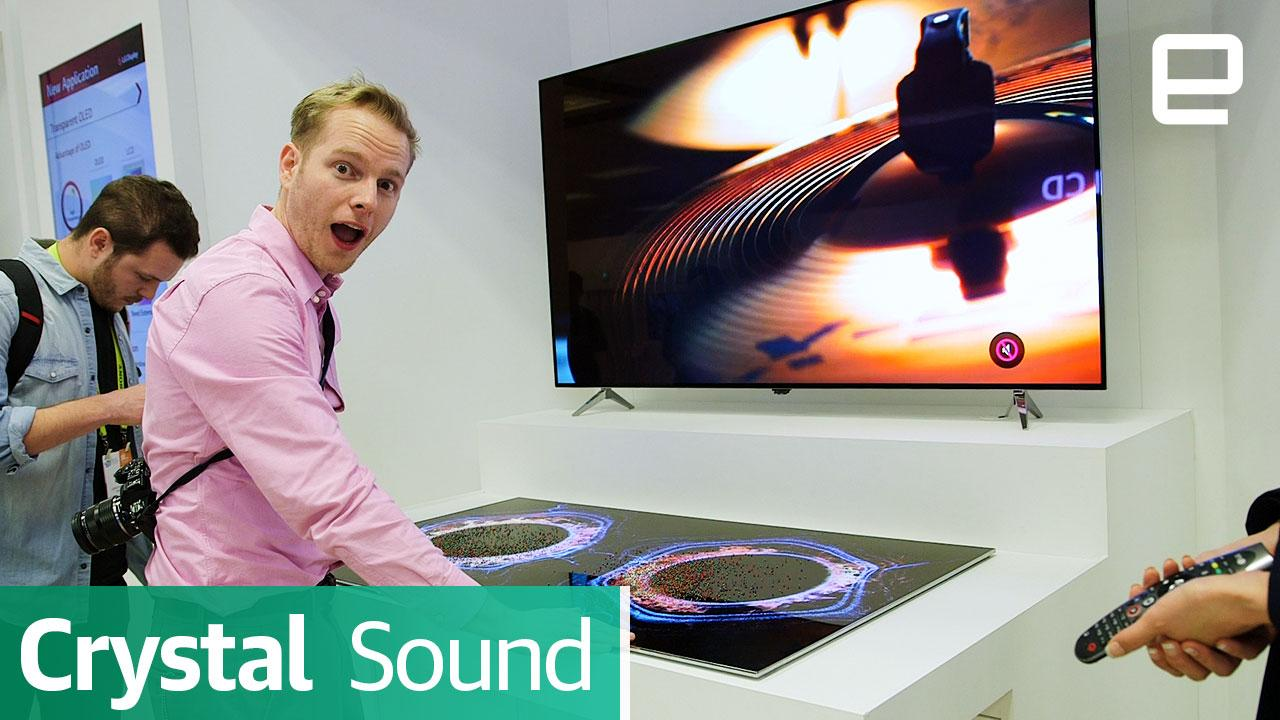 LG Display's Crystal Sound OLED: First Look