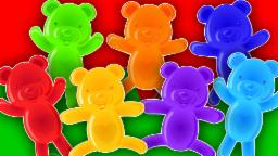 jelly bears | colors song | learn colors | nursery rhymes | kids songs