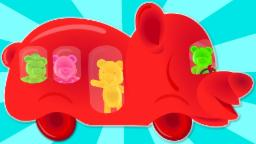 Jelly Bears | Wheels On The Bus | Nursery Rhymes | Kids Songs | Childrens Videos