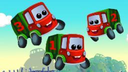 Zeek And Friends | Five Little Garbage Trucks | Car Rhymes And Songs
