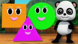 Learn Shapes | The Shapes Song | Videos For Baby And Children's | Baby Bao Panda