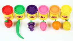 Learn Fruits And Vegetables With Play Doh   Play Doh Video   Fruits And Vegetable Video   Kids Video