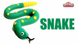 Play Doh Snake   How To Make Play Doh Snake   DIY Play Doh Snake