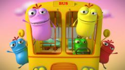Mad Beans   wheels on the bus   3D nursery rhymes song   video for children