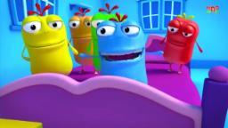 five little mad beans   five little mad beans jumping on the bad   nursery rhymes songs,