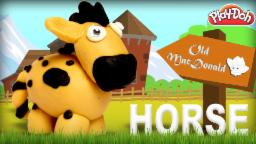 Play Doh Horse | Old Mac Donald Had A Farm | Learn Animals Sound | Nursery Rhymes | Old MacDonald