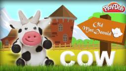 Play Doh Cow   Old Mac Donald Had A Farm   Learn Animals Sound   Nursery Rhymes   Old MacDonald