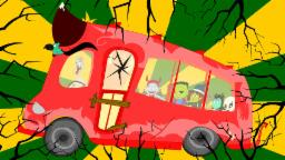 Wheels On The Bus | Scary Rhymes With Lyrics For Children | Halloween Songs For Kids