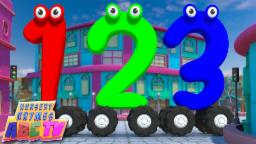 Numbers On Wheels | Learn Numbers | Numbers Song | 123 Rhyme |