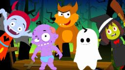 Five little Monsters  | Scary Rhymes | Halloween Song