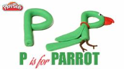 Play Doh Abc | ABC Phonics Song |  Alphabet Transforms into Animals | P is for parrot