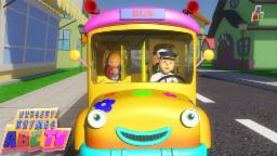Wheels on the Bus go round and round | 3d Rhymes