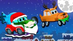 santa claus is coming down the chimney  | Zeek And Friends Car Song For Kids
