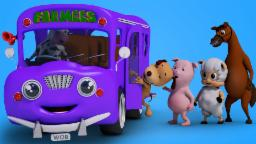 Wheels On The Bus Go Round And Round | 3D Baby Songs | Kids Nursery Rhymes