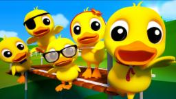 5 Little Ducks | 3d Nursery Rhymes For Kids | Baby Songs | Childrens Music Video