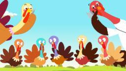 Five Little Turkeys | Thanks Giving Song