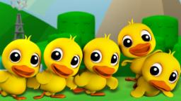 Five Little Ducks | Childrens Song For Kids | Nursery Rhyme For Baby