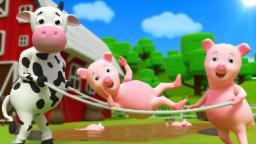 Five Little Piggies | Nursery Rhyme | Kids Songs By Farmees