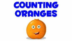 Oranges Numbers | Learn numbers from 1 to 10
