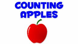 Apples Numbers | Learn numbers from 1 to 8