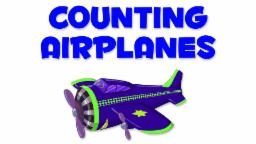 Airplanes Numbers | Learn numbers from 1 to 6