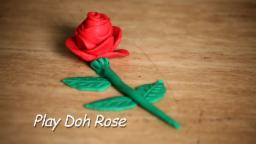 Play Doh Red Rose