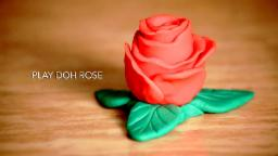 Play Doh Rose