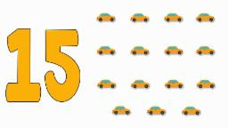 Car Numbers | Learn numbers from 1 to 15
