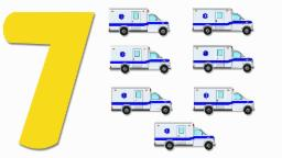 Ambulances Numbers | Learn numbers from 1 to 7 | Number Song