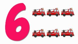Fire Trucks Numbers | Learn numbers from 1 to 6 | Number Song