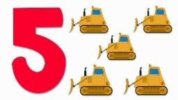 Bulldozers Numbers | Learn numbers from 1 to 5 | Number Song