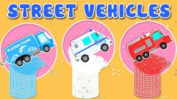 Umi Uzi | street vehicles for children | learn colors | bottle smash