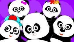 Five Little Pandas | Panda Song | Nursery Rhymes | Kids Songs | Baby Rhymes