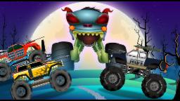 Haunted House Monster Truck - Police Monster Truck | Evil Monster Truck | Episode 14