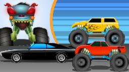 Haunted House Monster Truck - Haunted House Monster Truck | War | Episode 11 | Videos for Kids