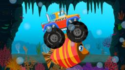 monster truck underwater adventure | street vehicles | kids cartoon trucks