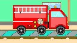 Fire Truck | Car Garage | Learning Video For Kids