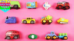 Learn Vehicles For Kids Children Babies Toddlers With Car London Bus Garbage Van Taxi Trailer Truck