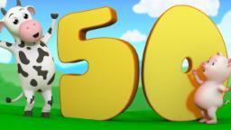 The Number Song | learn Numbers 1 to 50 | Nursery Rhymes Farmees | Kids Songs | Baby Rhymes