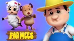 Head Sholders Knees And Toes | Nursery Rhymes Farmees | Baby Rhymes | Kids Songs