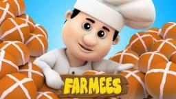 Hot Cross Buns | Nursery Rhymes Farmees | Kids Songs | Children Rhymes