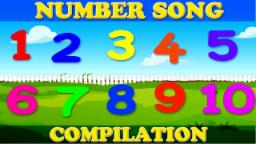 123 Number Songs | Nursery Rhymes | Compilation Video For Kids