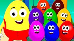 Crazy Surprise Eggs | Learn colors | The Color Song | Learning Video For kids