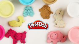 Learn Colors & Shapes Of Animals   Play Doh Confitte   Learn Colors With Play Doh   For Kids